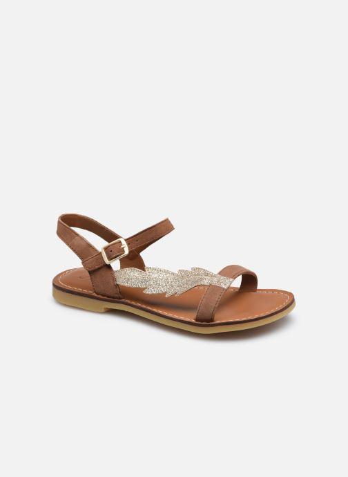 Sandales et nu-pieds Adolie Lazar Feather Marron vue détail/paire