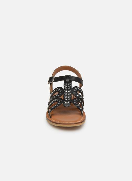Sandals Adolie Lazar Curved Black model view