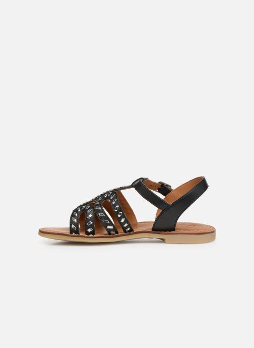 Sandals Adolie Lazar Curved Black front view