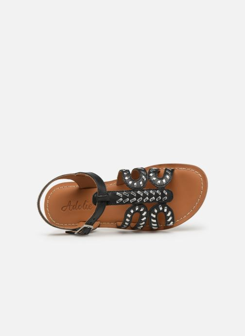 Sandalen Adolie Lazar Curved Zwart links