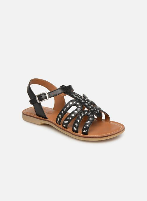 Sandals Adolie Lazar Curved Black detailed view/ Pair view