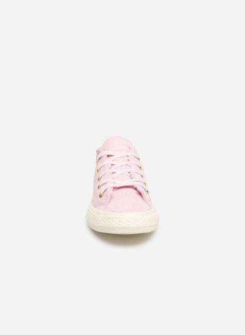 Sneaker Converse Chuck Taylor All Star Ox Frilly Thrills rosa schuhe getragen