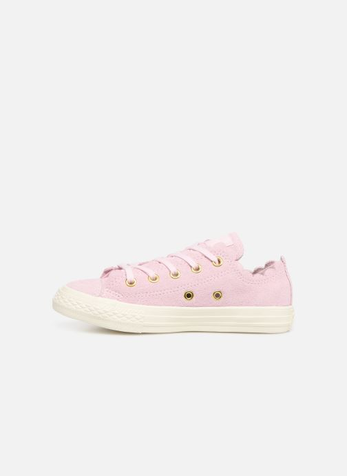Baskets Converse Chuck Taylor All Star Ox Frilly Thrills Rose vue face