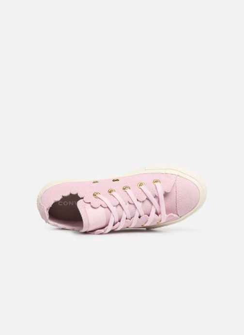 Sneaker Converse Chuck Taylor All Star Ox Frilly Thrills rosa ansicht von links