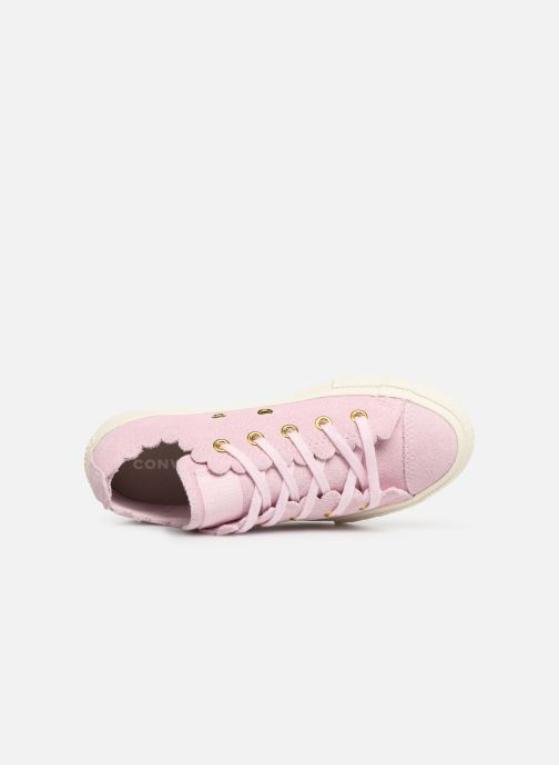 Sneakers Converse Chuck Taylor All Star Ox Frilly Thrills Rosa immagine sinistra