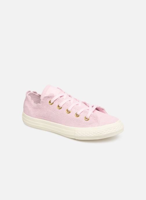 Baskets Converse Chuck Taylor All Star Ox Frilly Thrills Rose vue détail/paire