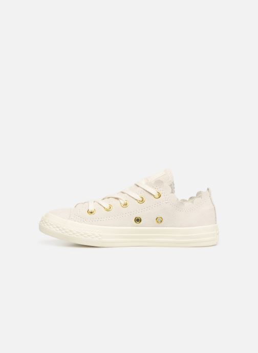 Baskets Converse Chuck Taylor All Star Ox Frilly Thrills Beige vue face