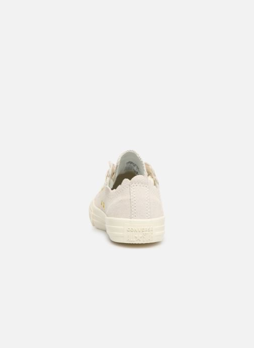 Baskets Converse Chuck Taylor All Star Ox Frilly Thrills Beige vue droite