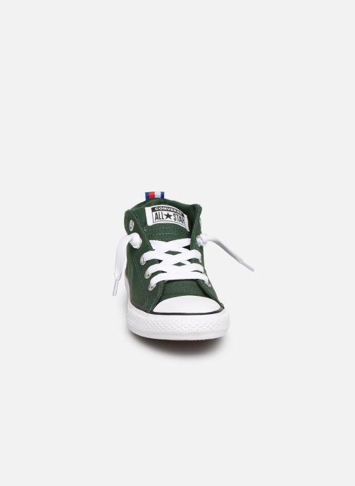Baskets Converse Chuck Taylor All Star Street Mid Sport Webbing Vert vue portées chaussures