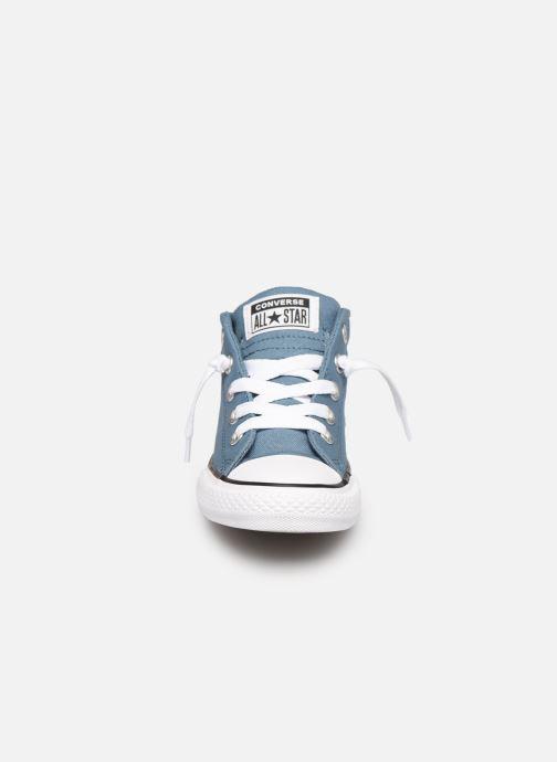 Sneaker Converse Chuck Taylor All Star Street Mid Sport Webbing blau schuhe getragen