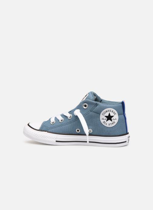 Sneaker Converse Chuck Taylor All Star Street Mid Sport Webbing blau ansicht von vorne