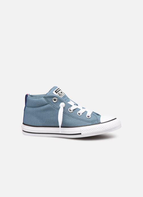 Sneaker Converse Chuck Taylor All Star Street Mid Sport Webbing blau ansicht von hinten