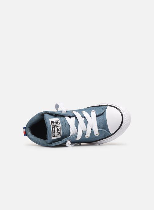 Sneaker Converse Chuck Taylor All Star Street Mid Sport Webbing blau ansicht von links