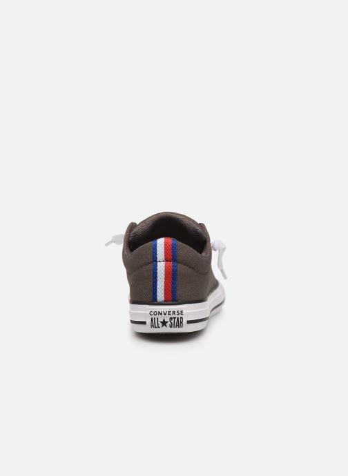 Sneakers Converse Chuck Taylor All Star Street Slip Sport Webbing Grigio immagine destra