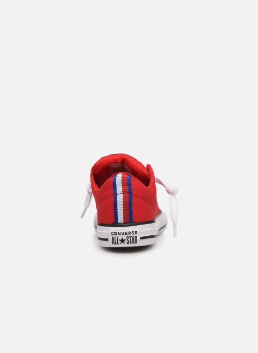 Sneakers Converse Chuck Taylor All Star Street Slip Sport Webbing Rood rechts
