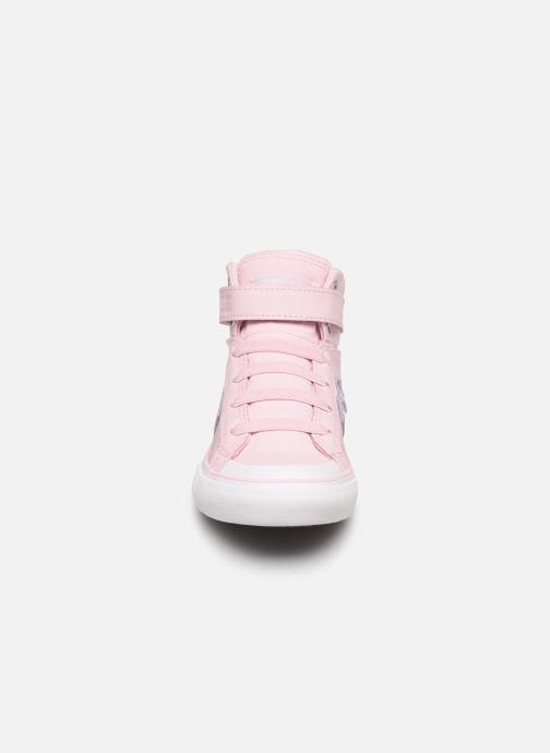 Sneakers Converse Pro Blaze Strap Hi Tipped Back Court Leather Rosa bild av skorna på
