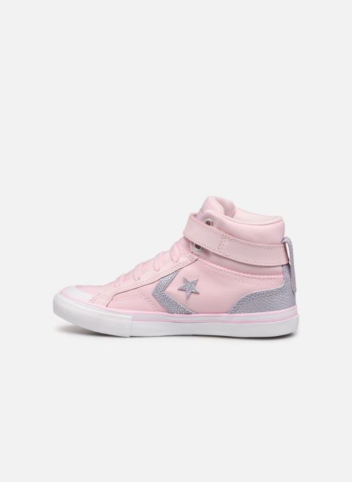 Sneakers Converse Pro Blaze Strap Hi Tipped Back Court Leather Roze voorkant
