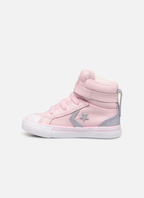 Baskets Converse Pro Blaze Strap Hi Tipped Back Court Leather E Rose vue face