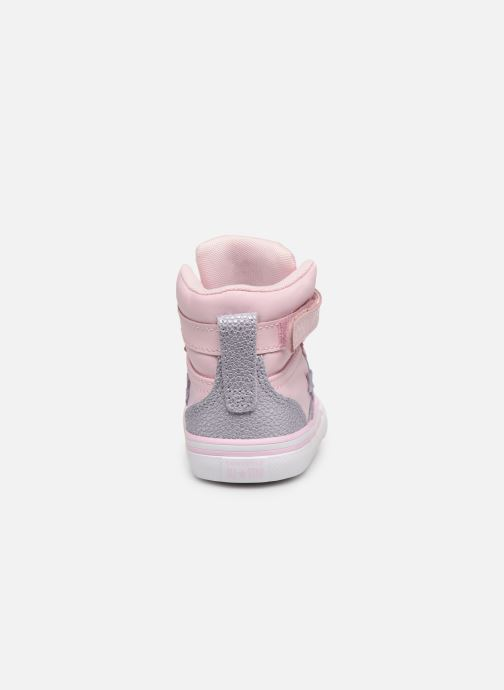 Trainers Converse Pro Blaze Strap Hi Tipped Back Court Leather E Pink view from the right