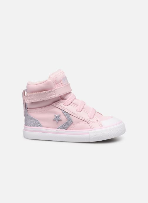 Trainers Converse Pro Blaze Strap Hi Tipped Back Court Leather E Pink back view