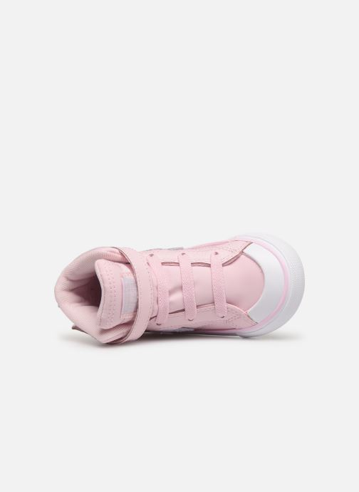 Sneaker Converse Pro Blaze Strap Hi Tipped Back Court Leather E rosa ansicht von links
