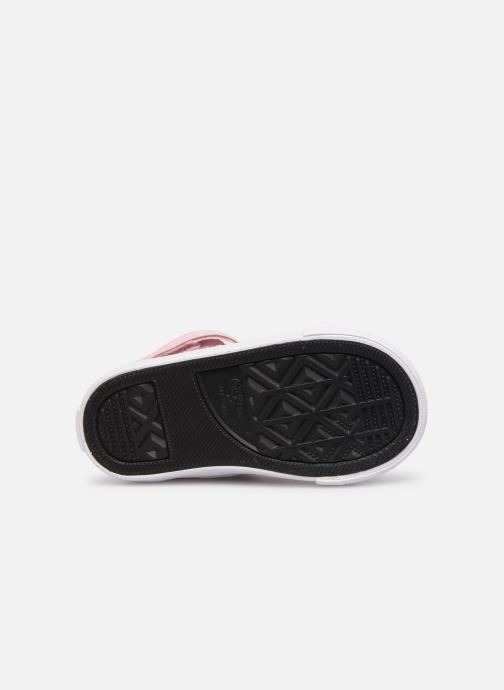 Trainers Converse Pro Blaze Strap Hi Tipped Back Court Leather E Pink view from above