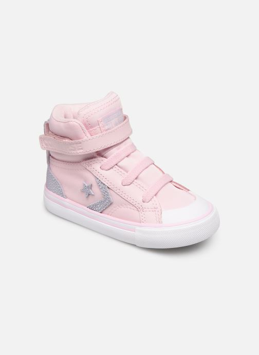 Trainers Converse Pro Blaze Strap Hi Tipped Back Court Leather E Pink detailed view/ Pair view