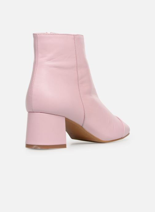 Ankle boots Made by SARENZA Sport Party Boots #2 Pink front view