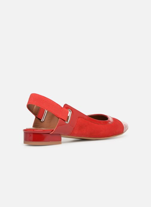 Ballet pumps Made by SARENZA Sport Party Ballerines #1 Red front view