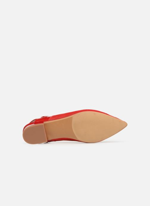 Ballet pumps Made by SARENZA Sport Party Ballerines #1 Red view from above