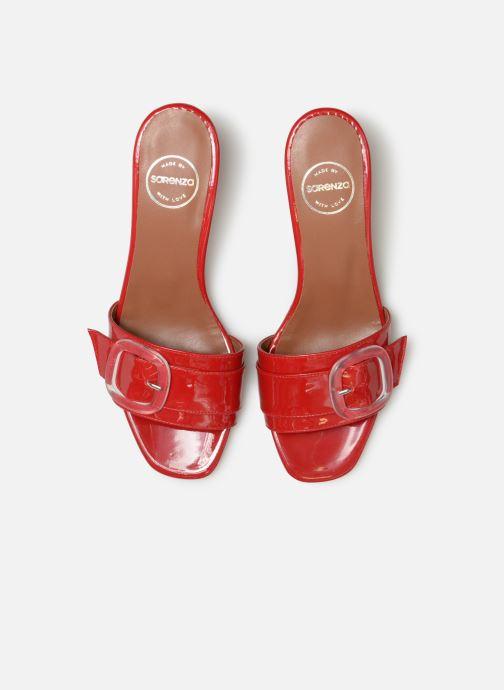Zoccoli Made by SARENZA Pastel Affair Mules #3 Rosso modello indossato