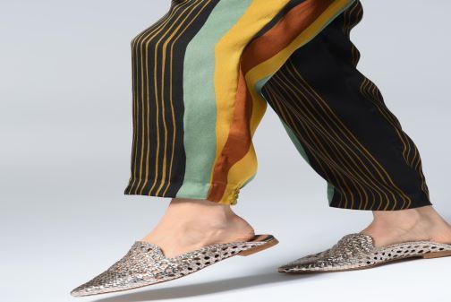 Zoccoli Made by SARENZA Riviera Couture Mule #3 Oro e bronzo immagine dal basso