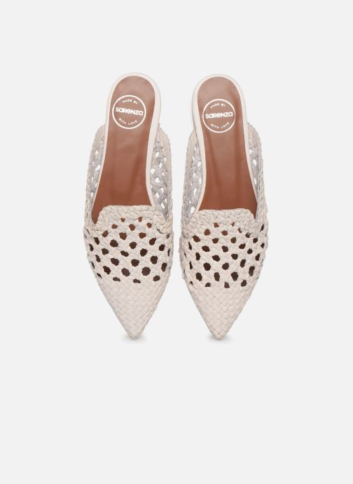 Zuecos Made by SARENZA Riviera Couture Mule #3 Blanco vista del modelo