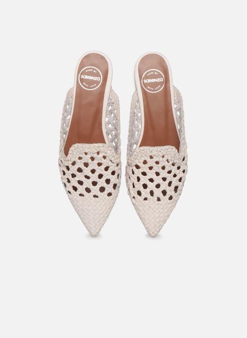 Zoccoli Made by SARENZA Riviera Couture Mule #3 Bianco modello indossato