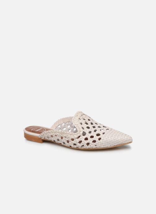 Zuecos Made by SARENZA Riviera Couture Mule #3 Blanco vista lateral derecha