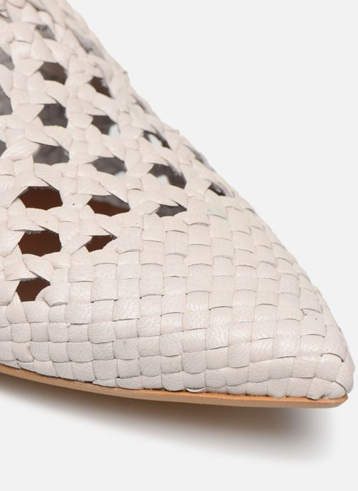 Zuecos Made by SARENZA Riviera Couture Mule #3 Blanco vista lateral izquierda