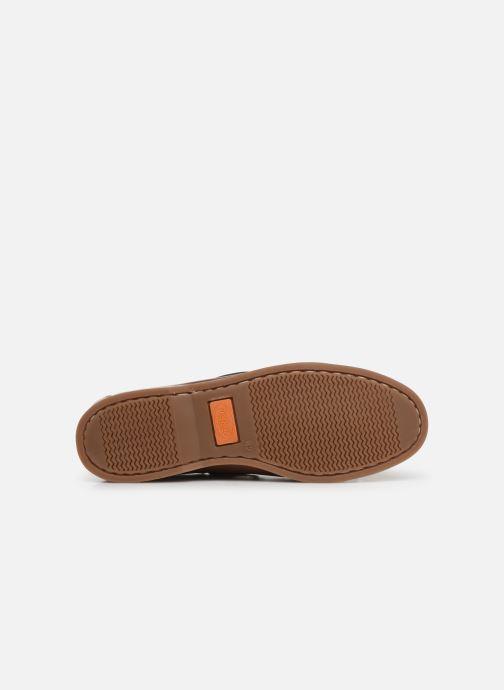 Chaussures à lacets Dockers François Marron vue haut