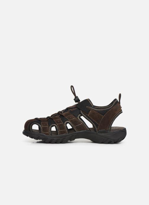 Sandales et nu-pieds Dockers Frédéric Marron vue face