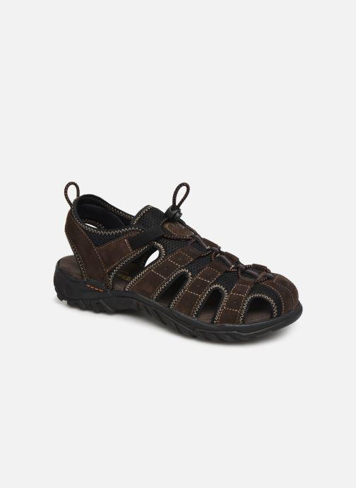 Sandales et nu-pieds Dockers Frédéric Marron vue détail/paire