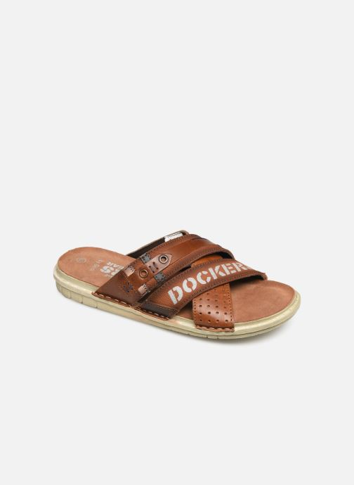 Sandals Dockers Baptiste Brown detailed view/ Pair view