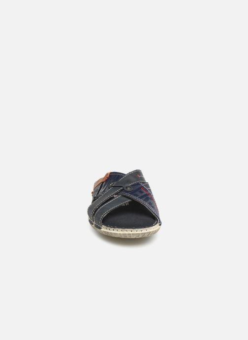 Sandales et nu-pieds Dockers Charles Bleu vue portées chaussures