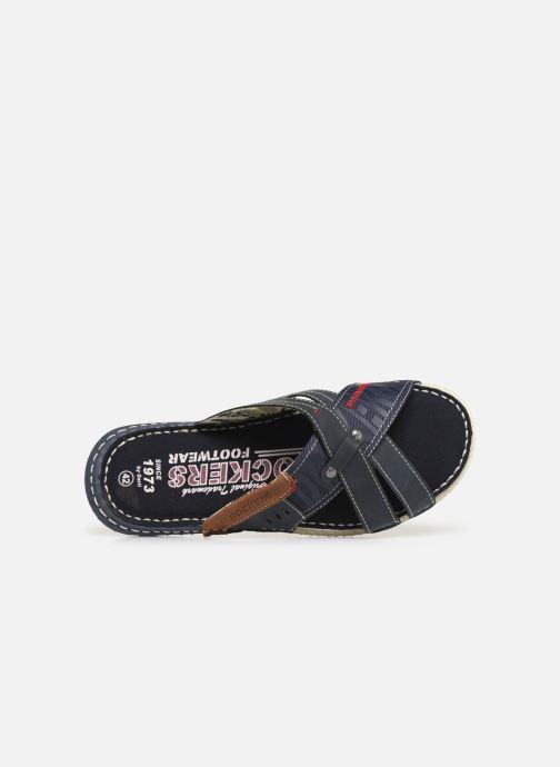Sandales et nu-pieds Dockers Charles Bleu vue gauche