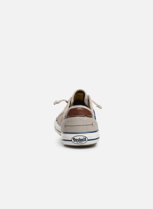 Trainers Dockers Emilien Beige view from the right