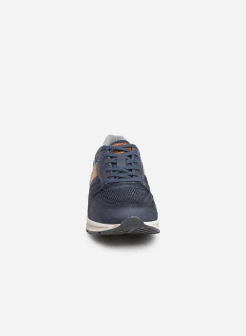 Baskets Dockers Fernand Bleu vue portées chaussures