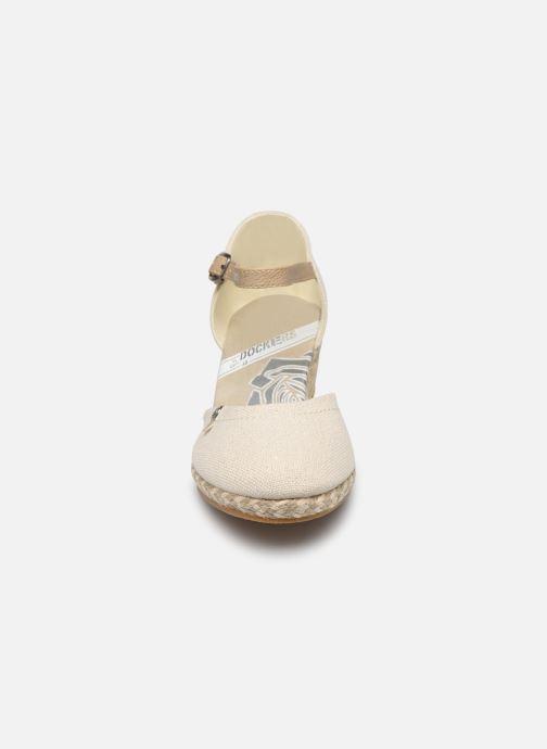 Sandales et nu-pieds Dockers Elise Beige vue portées chaussures