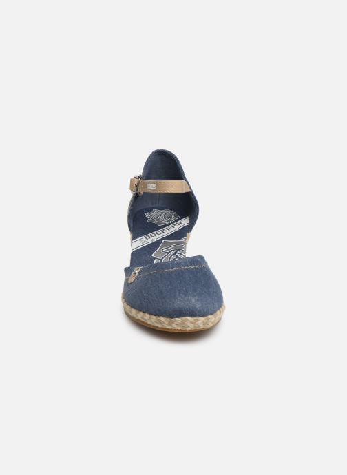 Sandales et nu-pieds Dockers Elise Bleu vue portées chaussures