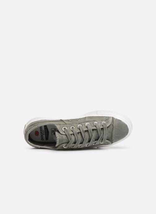 Sneaker Dockers Martine grün ansicht von links