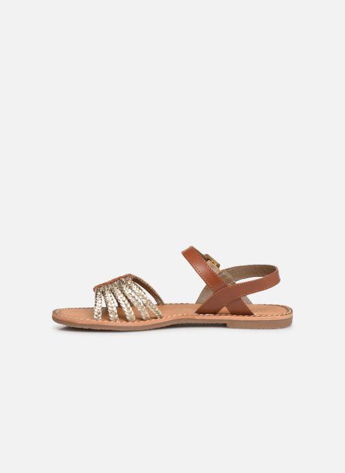 Sandals L'Atelier Tropézien Joséphine Bronze and Gold front view