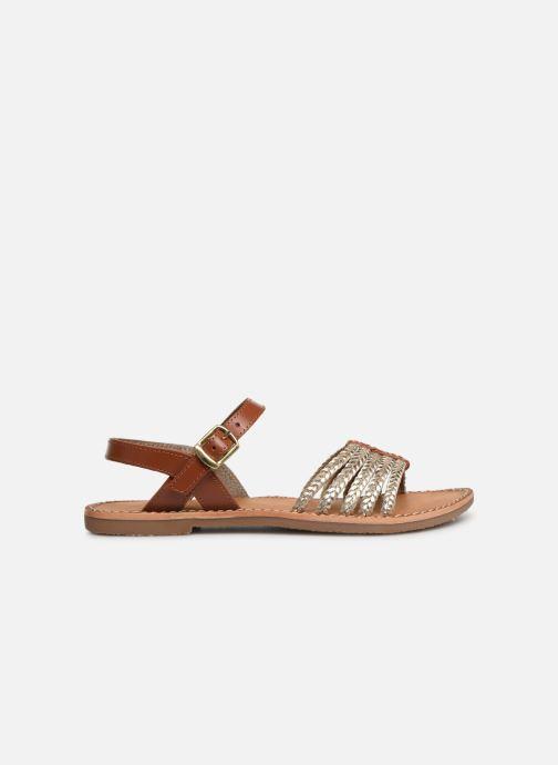 Sandales et nu-pieds L'Atelier Tropézien Joséphine Or et bronze vue derrière