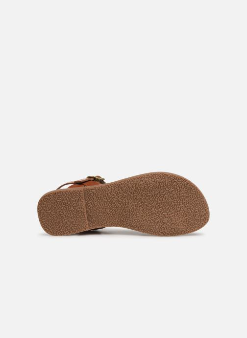 Sandales et nu-pieds L'Atelier Tropézien Joséphine Or et bronze vue haut